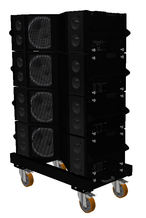 UX Pro Audio Supercluster dolley transport