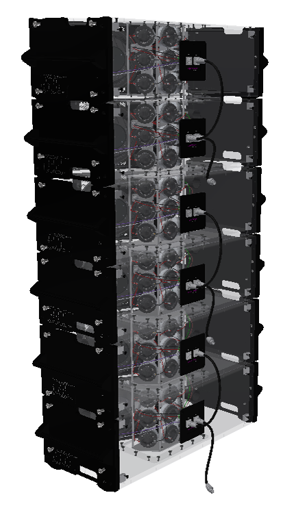Supercluster line-array or cluster setup possible